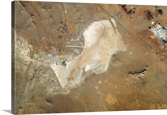 The dry salt lakebeds of Edwards Air Force Base