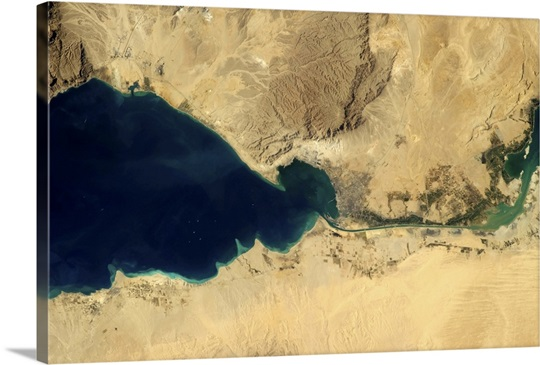 The Suez Canal, from the Indian Ocean to the Mediterranean Sea