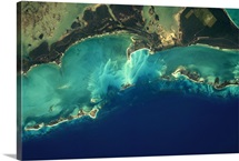 The unbelievable colours of the Bahamas from space