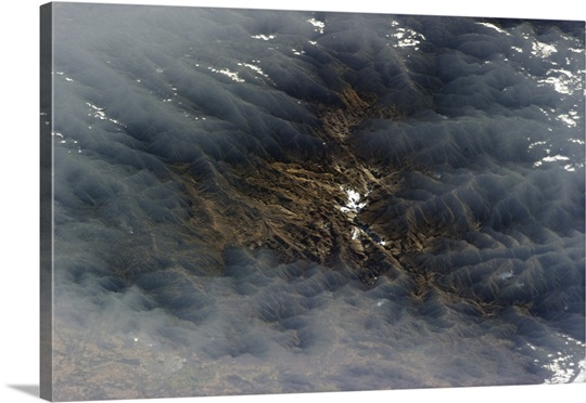 Venezuelan valley framed by misty clouds - mysterious, beautiful
