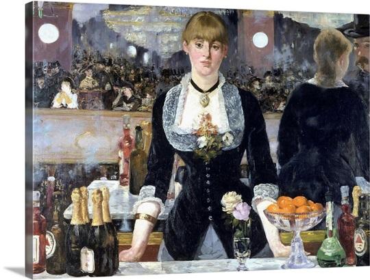Edouard Manet e con il suo dipinto Bar alle Folies