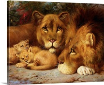 A Royal Family of Lions by William Strutt