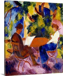 At the Garden Table by Auguste Macke