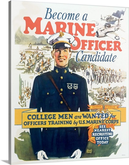 Become a marine officer candidate poster by arthur n edrop photo canvas print great big canvas - Becoming a marine officer ...
