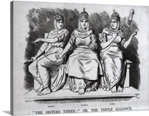 Caricature of the Triple Alliance, 1888
