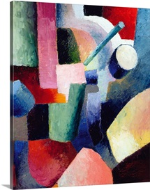 Colored Composition Of Forms By August Macke