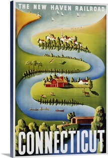 Connecticut Poster By Ben Nason