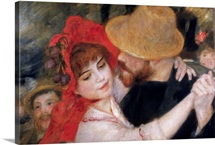 Detail Of Dancing Couple From Le Bal A Bougival By Pierre-Auguste Renoir