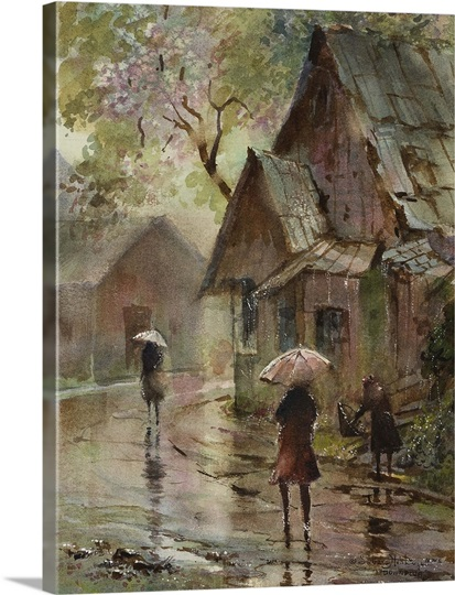 Down Pour By Lavere Hutchings Photo Canvas Print Great