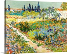 Garden At Arles By Vincent Van Gogh