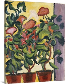Geranium at the Window by Auguste Macke