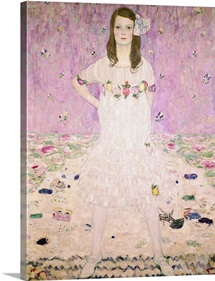 Girl In White By Gustav Klimt