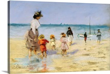 Going For A Paddle By Emile Cagniart