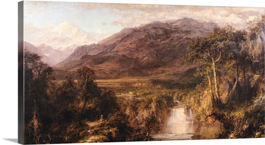 Heart Of The Andes By Frederic Edwin Church Wall Art