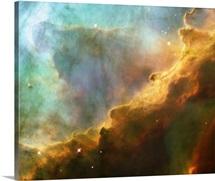 Hydrogen Glowing In Omega Nebula