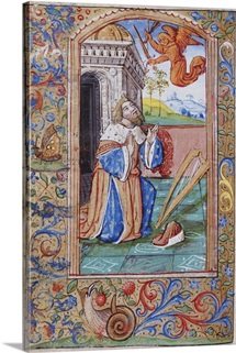 King David At Prayer From A French Book Of Hours