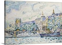 Le Palais Du Louvre By Paul Signac