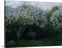 Lilacs In Twilight Or Resting Under The Lilacs By Claude Monet
