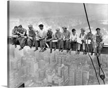 Lunch atop a skyscraper