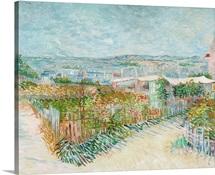 Montmartre: Behind The Moulin De La Galette By Vincent Van Gogh