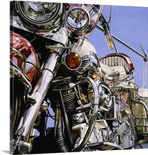 Motorcycle I By David Parrish