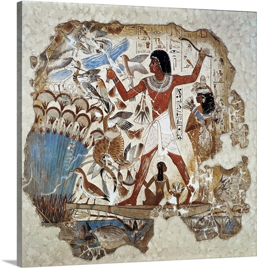 Nebamun Hunting Birds Ancient Egyptian Art Photo Canvas