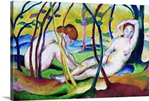 Nudes Under Trees By Franz Marc