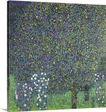Roses Under The Trees By Gustav Klimt