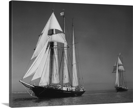 Schooners Sir Winston Churchill And Malcolm Miller Photo Canvas Print Great Big Canvas