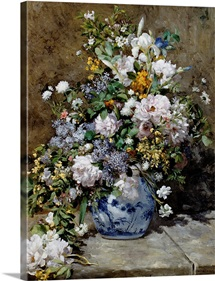 Spring Bouquet By Pierre-Auguste Renoir