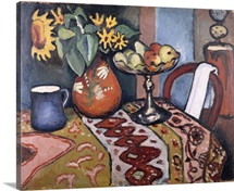 Still Life with Sunflowers II by August Macke