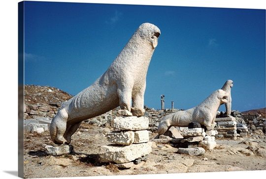 Terrace Of The Lions At Delos Photo Canvas Print  Great ...
