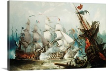 The Battle Of Trafalgar By John Callow