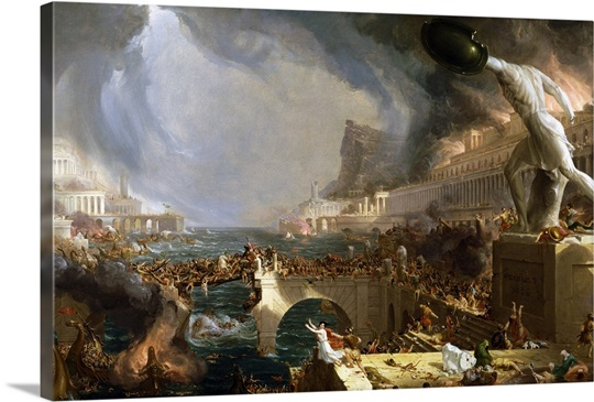 The Course Of Empire Destruction By Thomas Cole Photo