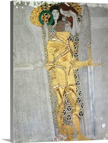 The Knight From The Beethoven Frieze By Gustav Klimt