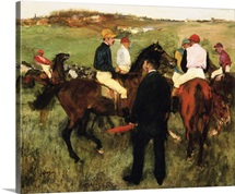 The Racehorses (Leaving The Weigh-In) By Edgar Degas