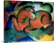 The Red Bull By Franz Marc