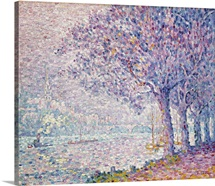 The Seine At St. Cloud By Paul Signac