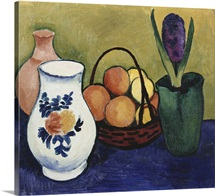 The White Jug with Flower and Fruit by Auguste Macke