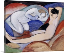 Two Reclining Nudes By Franz Marc