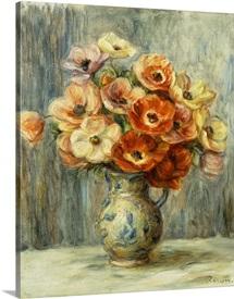 Vase Of Anemones By Pierre-Auguste Renoir