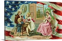 Washington's Home Life At Mount Vernon Postcard