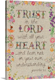 Hand Stitched - Trust the Lord