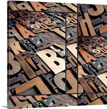 Typography Bronze Collage