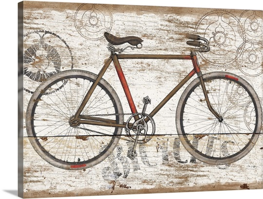 vintage travel bicycle photo canvas print great big canvas. Black Bedroom Furniture Sets. Home Design Ideas