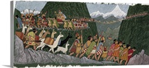 A victorious Inca emperor and his army march home to Cuzco.