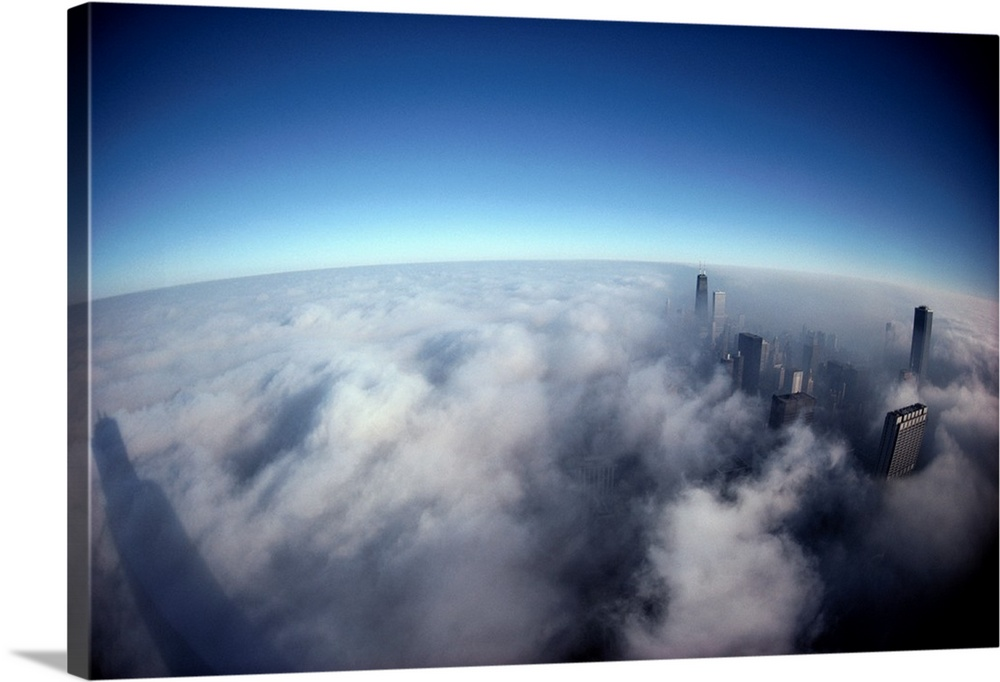 Airborne Above Chicago, Illinois, United States