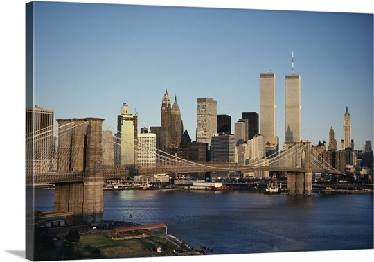 Brooklyn Bridge Over East River To Manhattan, New York, U.S. New York