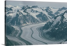 Mendenhall Glacier, Juneau Icefield, Coast Mountains, Alaska