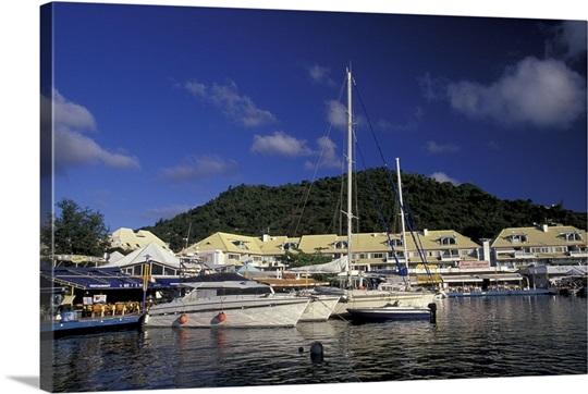 Caribbean french west indies st martin marigot port - Marina port la royale marigot st martin ...